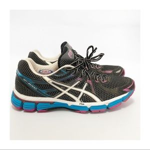 Asics GT-2000 Women's Running Black White Blue/ 10
